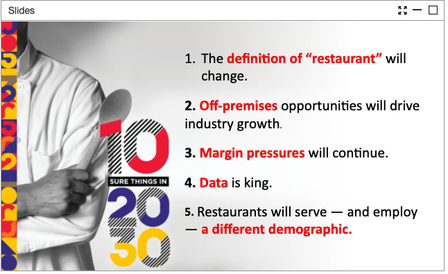 State of the restaurant industry