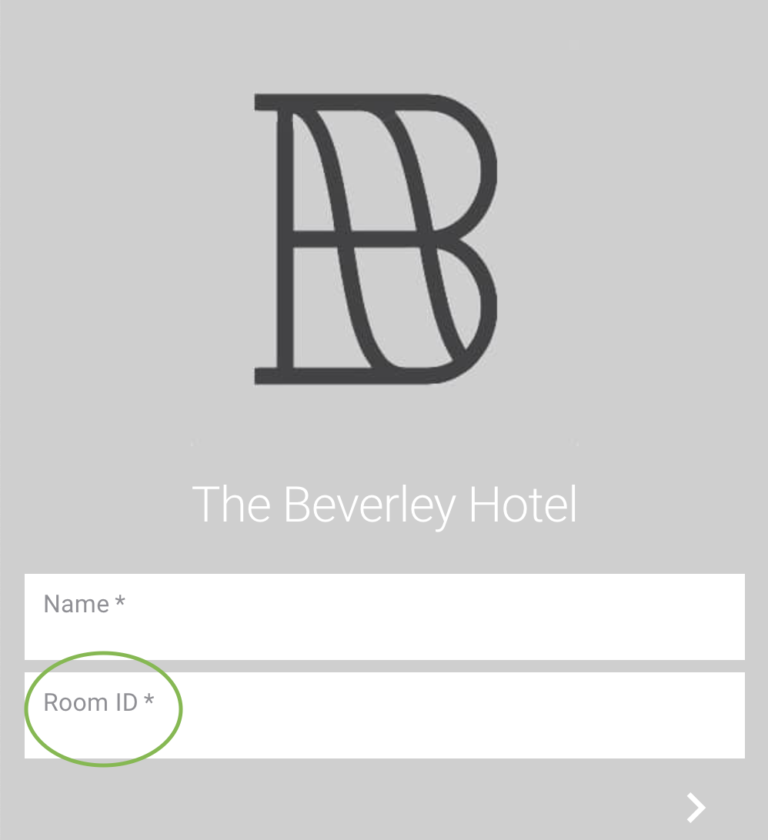 Room ID Shown for Contactless Room Service For Hotels