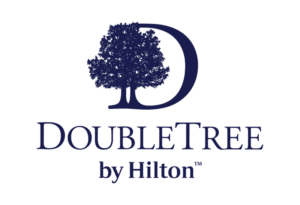 logo of double tree hilton representing that one of their hotels uses orderup for contactless room service