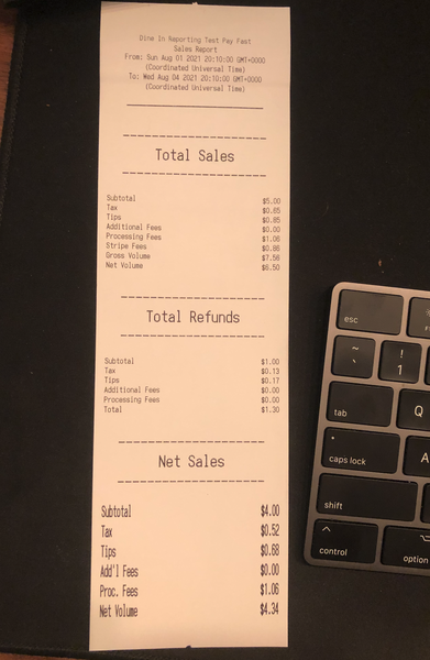 Example of a chit printed out from an OrderUp Order